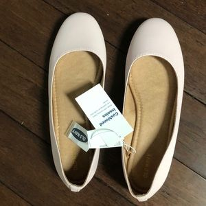 Blush colored ballet flats